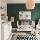Dark Green Gender Neutral Nursery Inspiration - Sarah Lagen