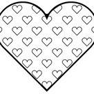 Kostenlos Malvorlage Herz  Für Entwickelt Räumliches Bewusstsein