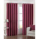 Riva Home Fiji Faux Silk Ringtop Curtains (Fuchsia) (46 x 54 inch)