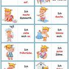 Spiele im Deutschunterricht: Domino - der Tagesablauf