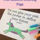 Free Unicorn Coloring Page