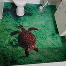 3D Boden / Fotoboden im Badezimmer verlegen