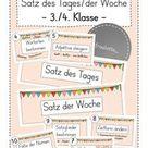 Satz des Tages/der Woche Tafelmaterial (3./4. Jahrgang) – Unterrichtsmaterial im Fach Deutsch