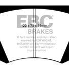 EBC 64 66 Ac Cobra 7.0 Yellowstuff Front Brake Pads