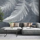 Feather Background Texture Surfaces Wallpaper Mural