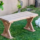 Easy DIY Bench Using 2x4 Boards For Outdoors