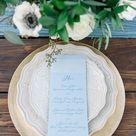 Modern Fairy Tale Wedding with Dusty Blue Details