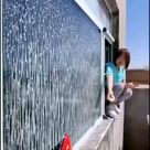 The new way to clean your windows?😱 -