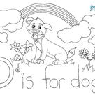 FREE D is for Dog Coloring Sheet