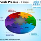 3 d puzzle pieces connected  jigsaw  6 stages powerpoint diagrams and…
