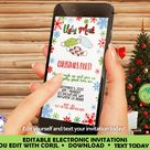 iPhone Ugly Mask Christmas Party Invitation, Smartphone Ugly Mask Holiday Invitation, Ugly Mask Invitation, Masquerade Christmas Invite