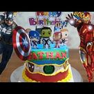 Dekorasi Kue Ulang Tahun Anak Laki Laki, Kue Ultah Superhero - Lenscake Kdi