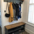 Shoe Rack and Coat Hooks Package Hallway Mudroom Bootroom Porch Shoe Bench/Coat Hooks with Hat Shelf SMALL *2 Sizes* CHOOSE COLOUR
