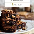 Rezept Schokoladen Erdnussbutter Brownies mit karamellisierten Nüssen / Rezept Schokoladen Brownies