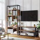 Bücherregal mit Stahlgestell