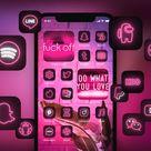 CYBERNEON  Ios 14 App Icons 1800 Transparent Icons Ios 14   Etsy