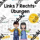 Links/Rechts-Übungen (10 Arbeitsblätter) – Unterrichtsmaterial im Fach Sachunterricht