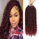 Fayasu Spring Senegalese Twist Crochet Braids Curly End Crochet Hair Extension for Black Women 12 Inch 6 Pieces - 12inch(6 PACKS) / TBUG