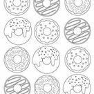 9+ Free Printable Donut Coloring Pages