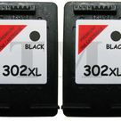 2 X 302 XL Schwarz Wiederaufbereitetes Druckerpatronen für HP Deskjet 3637