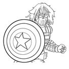 [UPDATED] 50 Captain America Coloring Pages (September 2020)