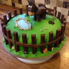 Made this horse theme cake. Vanilla sponge with buttercream and jam inside