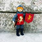 Dollhouse Castle Knight Doll (red tunic) - Red hair #5