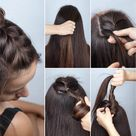 Top 20 Simple Hairstyles for Gowns and Frocks   Styles At Life