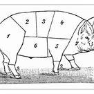A1 Poster. Cuts of Pork