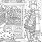 Country Quilts - Printable Adult Coloring Page from Favoreads (Coloring book pages for adults and kids, Coloring sheets, Coloring designs)