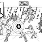 New Avengers Endgame Coloring Page for Marvel Fans