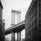 Gerald Berghammer Brooklyn Bridge, New York City, Architecture, contemporary black and white photo