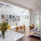 White open-plan kitchen space | Kitchen decorating | Ideal Home