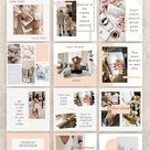 24 Instagram Templates for Canva. Beauty Templates. Instagram Post Templates For Canva.