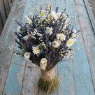 Lavender Twist Dried Flower Daisy & Babys Breath Bouquet
