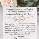 Mother of the bride gift! Gift for mom on wedding day! Gift from bride to mom! Rose gold, silver!