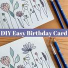 DIY Easy Birthday Card // Simple Modern Watercolor Flowers Tutorial