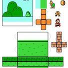 Papercraft : Diorama Mario template !!!