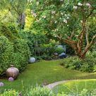 Curator and potter Joanna Bird has turned her garden into a lush exhibition space