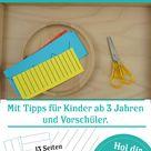 Montessori inspirierte Feinmotorikübung Schneiden  Kinder begeistern