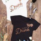 Rose Gold Foil Dolman Tees - Drunk in Love   Just Drunk