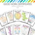 Child Certificates - Achievement Pack, Kids Certificates, Teacher Certificates, award templates, teacher gift, certificates of achievement