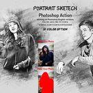 Portrait Sketch Photoshop Action 6176158