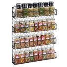 2Tier Kitchen Spice Rack Organizer for Cabinet Pantry Door,Spice Shelf Full Cover Countertop Storage,Spice Bottle Storage Rack Jar Bottle Rack Kitchen,PP,White,Brown - Walmart.com