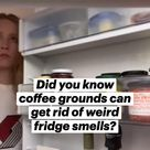 Did you know coffee grounds can get rid of weird fridge smells?