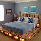 100 DIY Recycled Pallet Bed Frame Designs - Easy Pallet Ideas