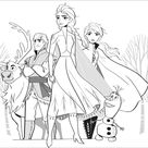 Frozen 2 : Elsa, Anna, Olaf, Sven, Kristoff without text - Frozen 2 Coloring Pages for Kids - Just Color Kids : Coloring Pages for Children