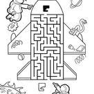 Irrgarten Labyrinth für Kinder - Kostenlose Ausmalbilder