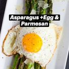 Asparagus with a Fried Egg & Parmesan