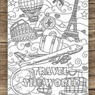 Steampunk Clock  Printable Adult Coloring Page from Favoreads | Etsy